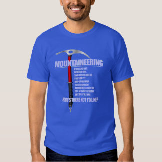 Mountaineering 2 t shirts