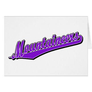 Mountaineers in Purple Greeting Card