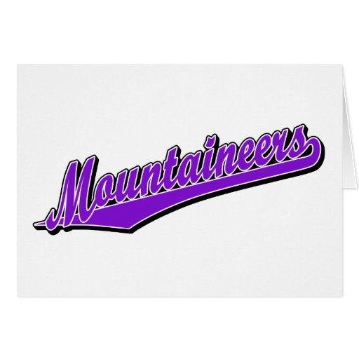 Mountaineers in Purple Greeting Card