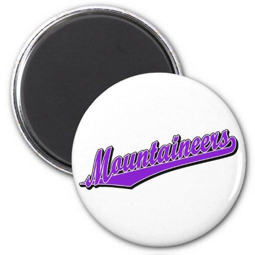 Mountaineers in Purple Refrigerator Magnet