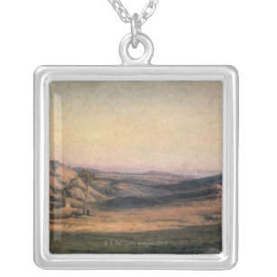Mountainous Countryside Silver Plated Necklace