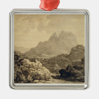 Mountainous Landscape, c.1780 (grey and brown wash Christmas Ornament