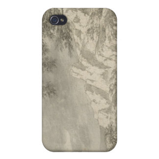 Mountainous Landscape with a Hiker Cover For iPhone 4