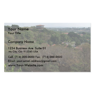Mountainous View Of A Beautiful Building Pack Of Standard Business Cards