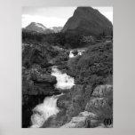 Mountainous Waterfall Poster