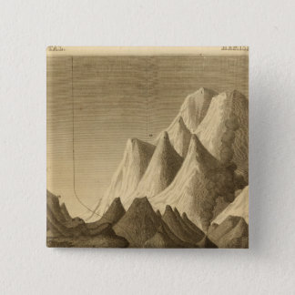 Mountains 15 Cm Square Badge