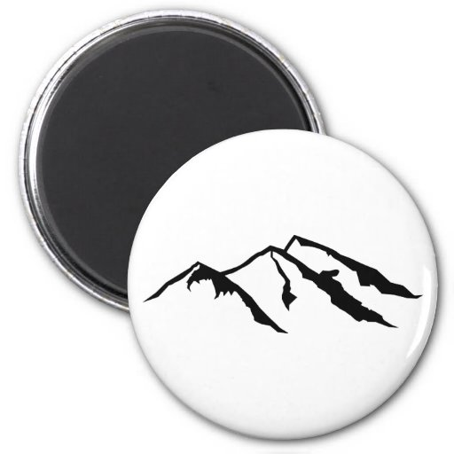 Mountains 6 Cm Round Magnet