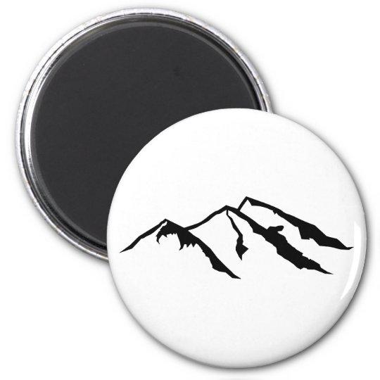 Mountains 6 Cm Round Magnet