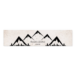Mountains Adventure Begins Wedding Monogram Napkin Band