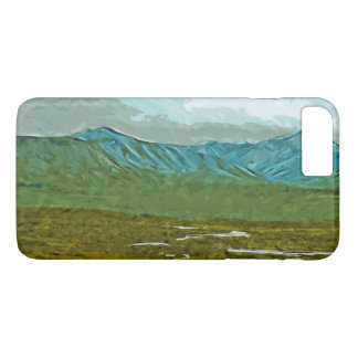 Mountains and Rivers of Denali Alaska Abstract iPhone 7 Plus Case