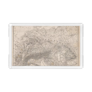 Mountains and Rivers of Europe Acrylic Tray