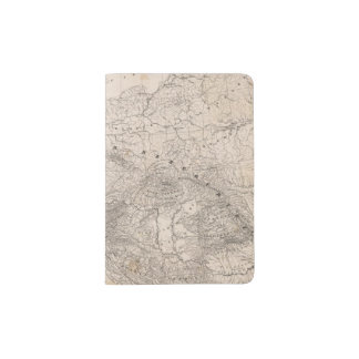 Mountains and Rivers of Europe Passport Holder