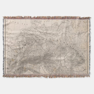Mountains and Rivers of Europe Throw Blanket