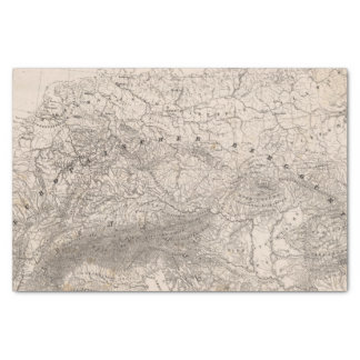 Mountains and Rivers of Europe Tissue Paper