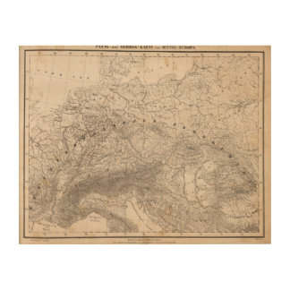 Mountains and Rivers of Europe Wood Wall Art