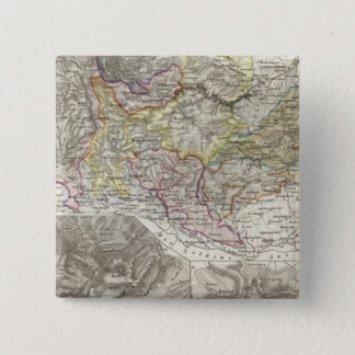 Mountains and Rivers of Harz Germany 15 Cm Square Badge