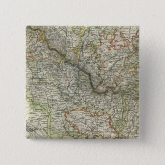 Mountains and Rivers of Hildburghausen Germany 15 Cm Square Badge
