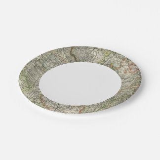 Mountains and Rivers of Hildburghausen Germany Paper Plate
