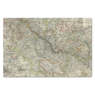 Mountains and Rivers of Hildburghausen Germany Tissue Paper