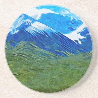 Mountains and Sky of Denali Alaska Abstract Coaster