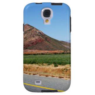 Mountains and Vineyards by a road in South Africa Galaxy S4 Case