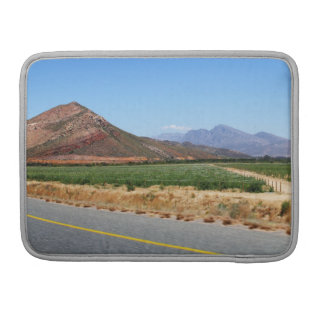 Mountains and Vineyards by a road in South Africa Sleeve For MacBook Pro