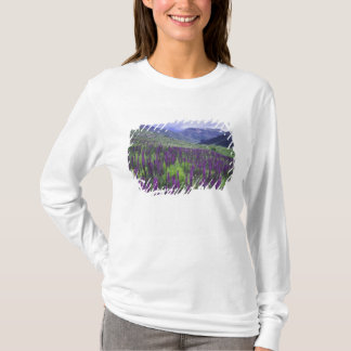 Mountains and wildflowers in alpine meadow, 2 T-Shirt