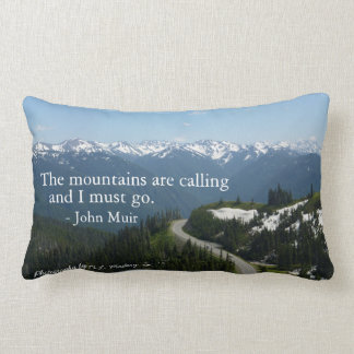 Mountains are Calling Lumbar Pillow
