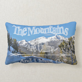 Mountains are Calling/Moose art pillow