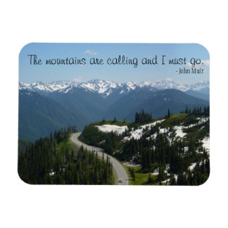 Mountains are Calling Rectangular Photo Magnet