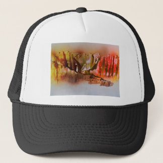 Mountains arising through  the Fog Trucker Hat