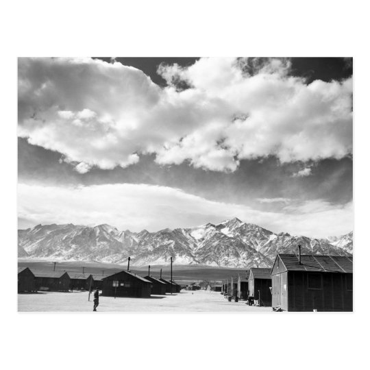 Mountains at Manzanar, 1943 Postcard