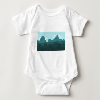 Mountains Baby Bodysuit