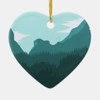 Mountains Christmas Ornament