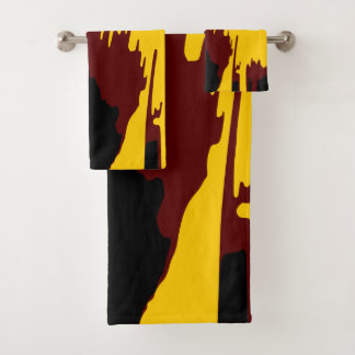 Mountains Colorful Vector Art Abstract Design Bath Towel Set