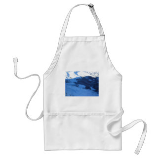Mountains Covered With Snow Apron