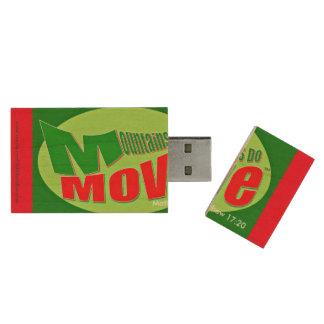 Mountains Do Move Matthew 17:20 Christian USB, 8GB Wood USB 2.0 Flash Drive