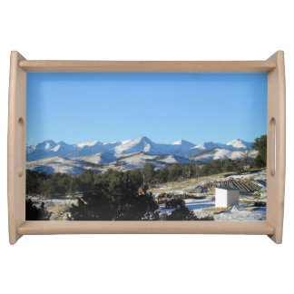 Mountains Freemont County Serving Tray
