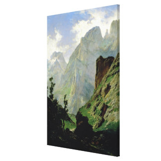 Mountains in Europe, 1876 Canvas Print