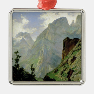 Mountains in Europe, 1876 Christmas Ornament