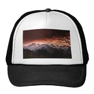Mountains in sunset cap