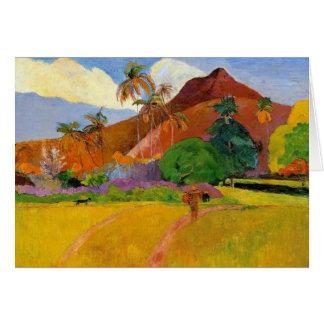 Mountains in Tahiti - Paul Gauguin Card