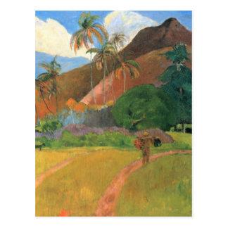 Mountains in Tahiti - Paul Gauguin Postcard