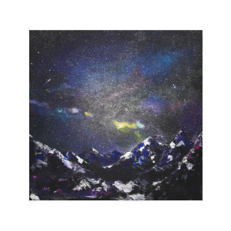 Mountains in the night canvas print
