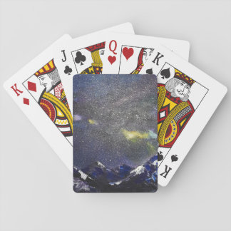 Mountains in the night playing cards