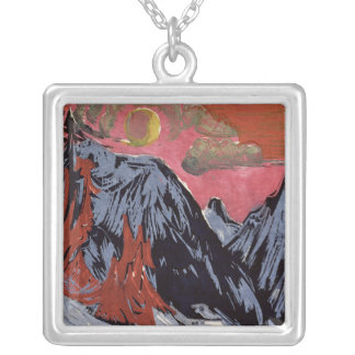 Mountains in Winter, 1919 Silver Plated Necklace
