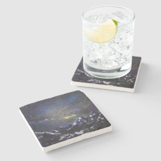 mountains ins the night stone coaster