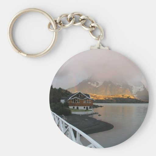 Mountains & Lake, Chile Keychains