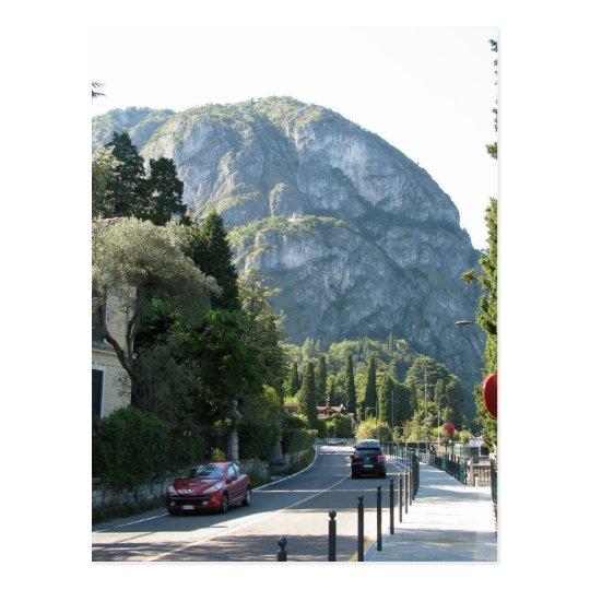 Mountains lake Como Italy Postcard