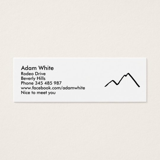 Mountains Mini Business Card